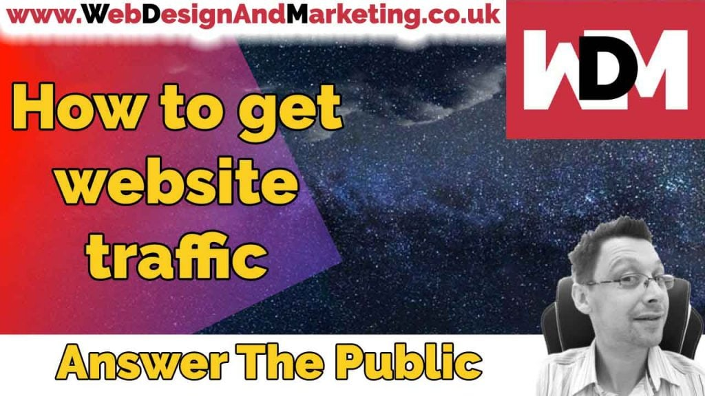 How to get website traffic - Answer The Public