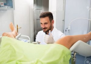 Stock photography gone wrong - gynecologist's thumbs up