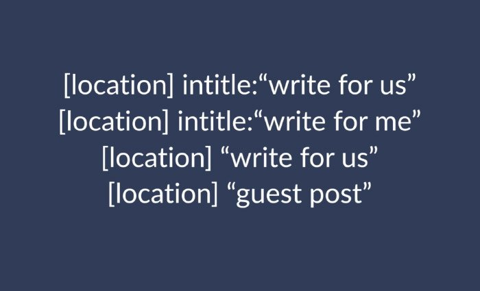 Guest Post Search Terms