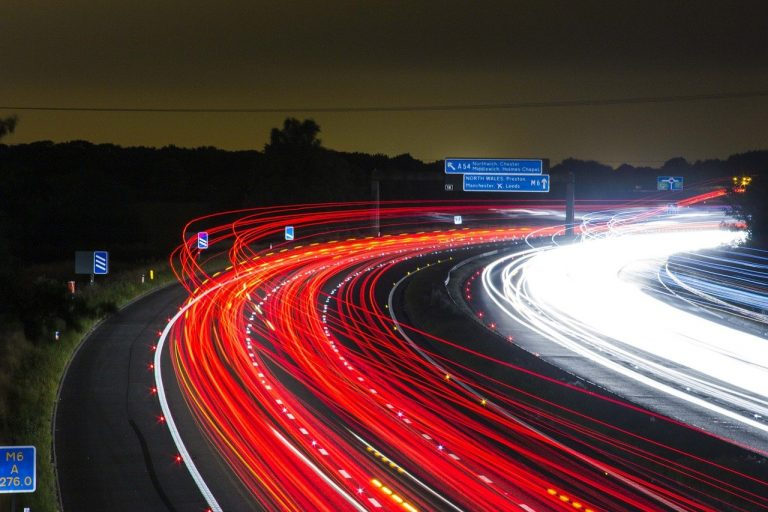 Time lapse photo of traffic